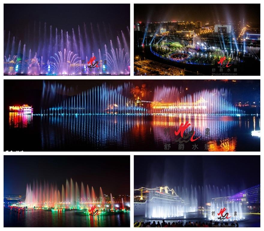 激光水幕电影大型灯光水舞音乐喷泉水幕电影和动态跑泉音乐喷泉制作音乐喷泉设计安装广场喷泉